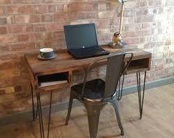 industrial style office desk. Rustic Handmade Industrial Style Vintage Retro Office Desk Console Table With Metal Hairpin Legs