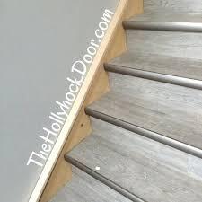 luxury vinyl plank on stairs luxury vinyl plank flooring grey driftwood gray luxury vinyl plank stair installation