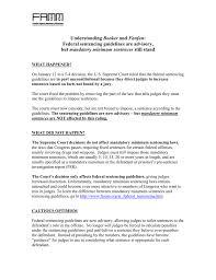 Understanding Booker And Fanfan Federal Sentencing Guidelines