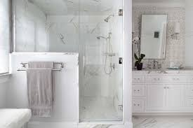 master bath clean white marble tile shower vanity