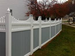 white privacy fence ideas. Decorative Privacy Fence Two Tone Earl Gray And White Home Exterior Ideas