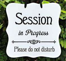 Do Not Disturb Meeting In Progress Sign Session In Progress Sign Office Business Door Sign Client