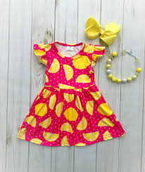 Rylee Faith Designs Summertime Pink Lemonade Dress Gift Ideas For Teagan