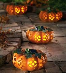 solar lighted decorative garden pumpkin decorations outdoor have pumpkins