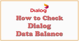 dialog data balance check number
