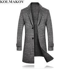 2019 kolmakov coats mens 2018 winter long woolen coat men s brand thicken jackets wool plaid overcoat male slim fit plus size m 3xl from pulchritude