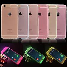 Front Led Light On Iphone 5 Fashion Led Light Flash Hard Pc Phone Case For Iphone 5 5s Se 6 6s 6 Plus 6s Plus Clear Transparent Protective Back Cover Case