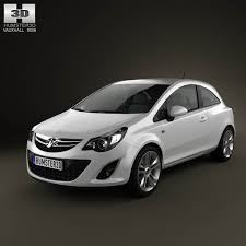 vauxhall corsa 3 door 2011 3d model