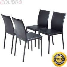 Amazoncom Colibrox Set Of 4 Dining Chairs Pu Leather Armless