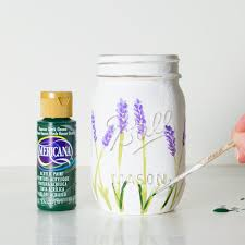 paint mason jars acrylic lavender how to flowers astounding photo hd flower painted it all started