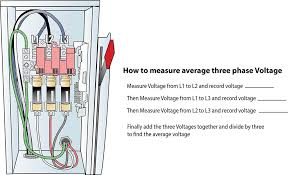 for hvac service technicians three phase voltage measurement three phase fuse box illustration