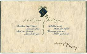 happy new years postcard happy new year kingston massachusetts public library website