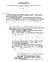 Introduction To Psychology Essay 006 Introduction Of Research Paper Sample Apa Museumlegs