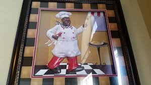 nice and cute touch with fat chef kitchen decor