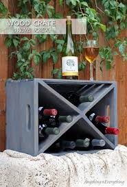 over at anything everything they have a wood crate wine rack which features a nice walk though of this x style wine rack