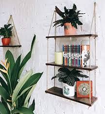 asliny rustic floating corner shelves