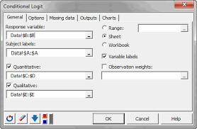 Logit Model Conditional Logit Model Tutorial In Excel Xlstat Support