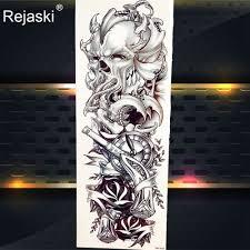 3d акварель гейши призрак временные татуировки наклейки кости Totem для женщин