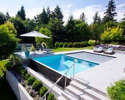 infinity pool backyard. 21 Landscape Small Backyard Infinity Pool Design Ideas 1