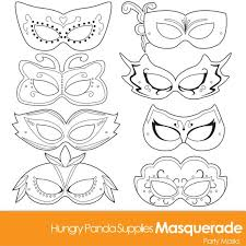Masquerade Mask Template Magnificent Masquerade Masks Masquerade Mask Printable Masquerade Mask Etsy