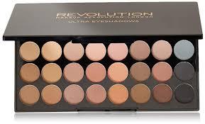 amazon makeup revolution flawless matte eye shadow palette 32 ultra professional matte eyeshadows 0 56 oz health personal care