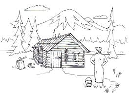 logging coloring pages cabin on a lake coloring pages coloring panda log coloring pages log