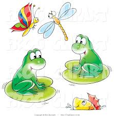 Image result for frog and butterfly clip art