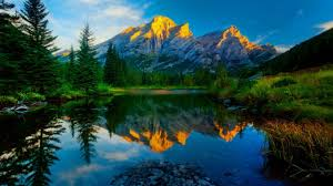 cool mountain backgrounds. Mountain Reflections Lake Sky Trees Nature Tranquil Lovely Beautiful Peaks Pretty Majestic Landscape Rocks Dual Monitor Cool Backgrounds P