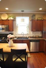 ... Decor Kitchen Cabinets Stupendous How To Decorate Above From Thrifty  Chick 21 ...