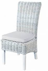 white wash high back rattan dining