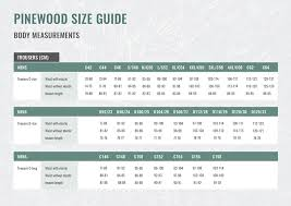 C60 Size Chart Pinewood Size Guide Men And Women Nordic Outdoor