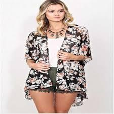 <b>2017</b> Women <b>Blouse</b> Cape Blazer Jacket Top <b>Summer Chiffon</b> ...