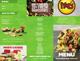 Menu For Moes Southwest Grill In Troy New York Usa