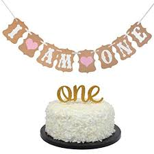 Amazoncom Baby First Birthday Cake Topper Decoration One