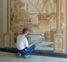 amazing new take on house decoration 3d wall paintings
