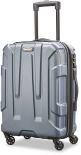 samsonite centric hardside 20 carry on luggage blue slate