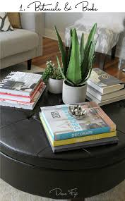 how to style a round coffee table
