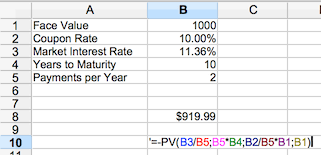 Bond Pricing Calculator Based On Current Market Price And Yield Dqydj