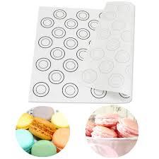 Macaron Guide Sheet Silicone Dough Mat Bakeware Macarons Pastry Baking Sheet Tray Liner Mat Pad Oven Pasta Tools