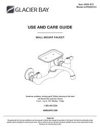 Glacier Bay Jy5020181 Installation Guide Manualzzcom
