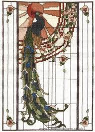 Art Deco Cross Stitch Charts Peacock Art Nouveau Art Deco Nouveau Art Nouveau