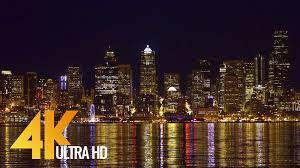 Seattle Cityscape Ultra Hd Seattle Cityscapes Night Seattle 3 Hrs