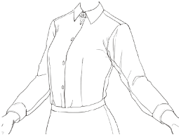 創作資料シャツとブラウスの描き方影の入れ方 イラストマンガ