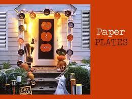 Fall Door Decor - Paper Plates