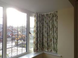 curtain track in square bay window