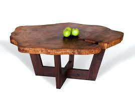 tree stump coffee table trunk glass with base