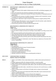 Receptionist Administrative Assistant Resume Samples Velvet Jobs