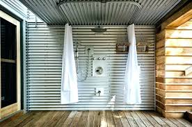 corrugated metal bathroom on walls rug designs contemporary with wall wainscoting installing corrugate