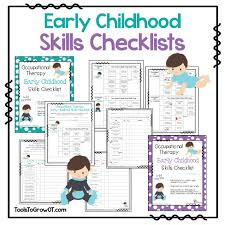 early childhood self help skills checklist quick screen for early childhood skills checklists quick screen for therapists to assess developmental status of self help