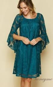 Honeyme Size Chart New Teal Honeyme Floral Lace Bell Sleeve Dress Size Medium